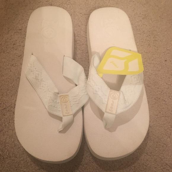 reef white flip flops